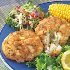 Shirley Phillips famous crab cakes from Phillips Seafood restaurant