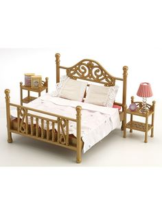 Sylvanian Families Luxury Brass Bed - 4522