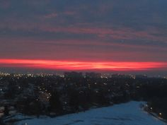 A Sunrise over Mississauga in January.