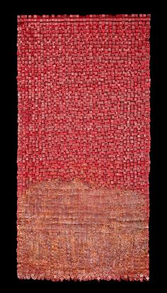 Untitled by Bogotá-based Colombian fiber artist Olga de Amaral (b.1932). via the artist's site