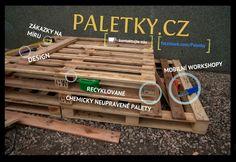 Nabytek z palet pro interier musi byt z chemicky neosetrenych palet. Protoze palety recyklujeme duraz klademe na jejich puvod.
