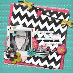 Layout by Nikki: Confidence is Beautiful by Jenn Barrette and Brook Magee coming 2/15 to Sweet Shoppe Designs