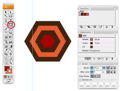 Creating geometric patterns in Illustrator - Creating a hexagon shape