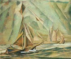 Lyonel Feininger, Ships, 1917