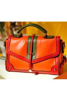 Contrast Colored Arrowhead Embellished Shoulder Bag