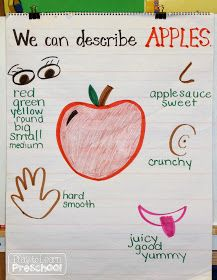 Apple Circle Time – Play to Learn - Preschool Children Activities Kindergarten Science, Preschool Lessons, Preschool Classroom, Kindergarten Apples, Kindergarten Circle Time, 5 Senses Preschool, Preschool Education, Science Education, Classroom Ideas
