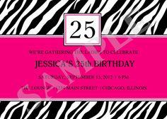 Printable Zebra Stripes Birthday Party Event by jessica91582, $10.00