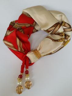 Sciarpa Foulard in seta fantasia arricchita di ifilicoloratidisara