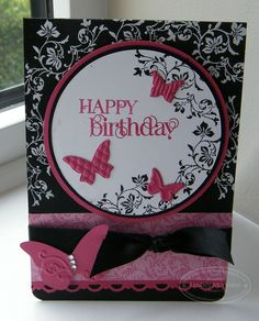vintage vogue & curly cute birthday card stampin up