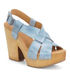 Baby Blue Constance Platform Sandal by Kork-Ease on #zulily today!
