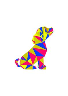 Geometric Puppy dog love.
