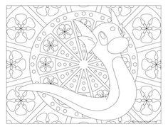 Dratini Pokemon 147 Kids ColoringAdult ColoringColoring BooksColoring PagesPokemon ColoringPikachuZentangleDoodleArt Work