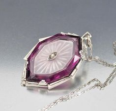 Art Deco Amethyst Camphor Glass Necklace – Boylerpf