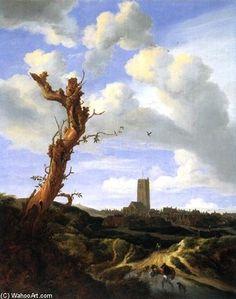 Vue de Egmond aan Zee de Jacob Isaakszoon Van Ruisdael (Ruysdael) (1628-1682, Netherlands)