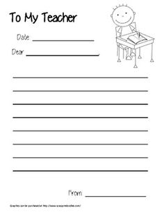 Free Yearly Friendly Letter Writing Centers  Special Education