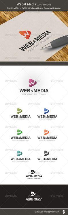 Web & Media Logo Template — Vector EPS #designer #coding • Available here → https://graphicriver.net/item/web-media-logo-template/6241397?ref=pxcr