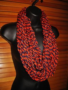 Chicago Bears Infinity Scarf  Orange and by TheLittleBarntique