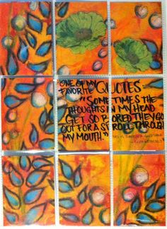 """Mail art """"Pocket Letter"""" by Melissa Fetalvero of ATC's For All. (front)"""