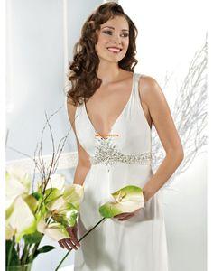 Áčkový střih Taft Empírové Svatební šaty 2014