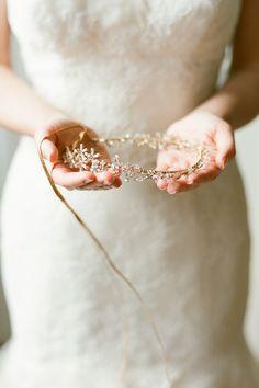 Twigs & Honey #headpiece Photography: Brklyn View Photography - www.brklynview.com  Read More: http://www.stylemepretty.com/2014/08/19/rustic-glam-brooklyn-wedding/