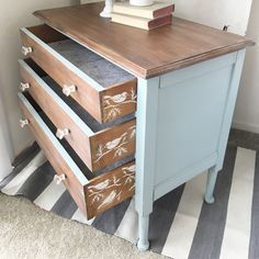 vintage dresser makeover by Painted Home Goods