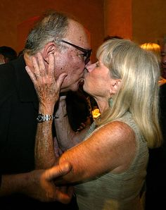 """John Vernon and Verna Bloom greet one another at the afterparty for the DVD release of """"Animal House"""" August 21, 2003 in Hollywood. John Vernon, August 21, Animal House, In Hollywood, Bloom, Couple Photos, Couples, Animals, Couple Shots"""