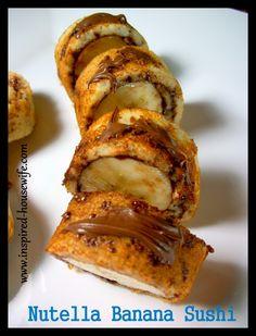 Nutella Banana Sushi {Gluten Free} -- YUM!!!