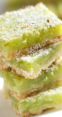 Margarita Bars made for Cinco de Mayo used 1 tbsp tequila and 2 tbsp agave so they were safe for work Topped with coarse sea salt in addition to powdered sugar Mexican Dishes, Mexican Food Recipes, Sweet Recipes, Cookie Recipes, Mexican Desserts, Mexican Fiesta Food, Freezer Recipes, Mexican Party, Freezer Cooking