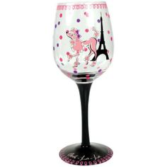 Westland Giftware Ohh La La Wine Glass by Westland Giftware. $16.00. Material: glass. Hand wash recommended. Pink painted poodle with polka dots. 9-Inch wine glass. Westland giftware ohh la la wine glass. This fun glass is perfect for entertaining. Holds 15-ounce.