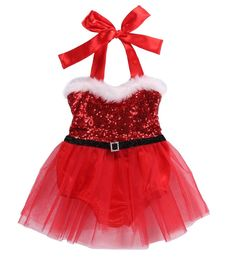 440a6d7aa32 Sequin Santa Claus Romper in Red With Tutu Christmas Romper · Santa BabyChristmas  ...