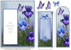 Iris Garden Bookmark Pocket Card