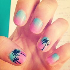 Celebrate Summer With These Palm Tree Nail Designs Photo