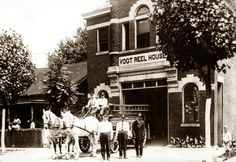 #Lexington #vintage photos old photography horses fire station #firefighters fire department black and white fire brigade