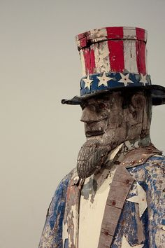 Uncle Sam Mailbox Folk Art by Peter Jodocy (American, Milwaukee Art Museum Yankee Doodle Dandy, Don Delillo, Milwaukee Art Museum, I Love America, America America, Sea To Shining Sea, Primitive Folk Art, Old Glory, Outsider Art