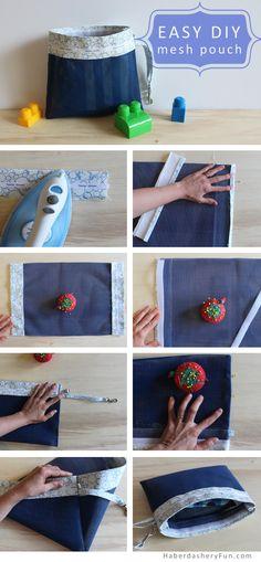 DIY.. Mesh Pouch | Haberdashery Fun