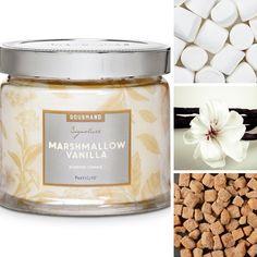 Etes-vous gourmande ? Si je pouvais je plongerais ma cuillère ! Fragrance Guimauve et Vanille: Le parfum sucré de la guimauve et de la vanille saupoudrée de caramel et de sucre vergeoise évoque de doux souvenirs d'enfance.
