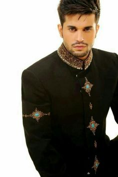 Wearing a Sherwani (coat) style c. 18 century