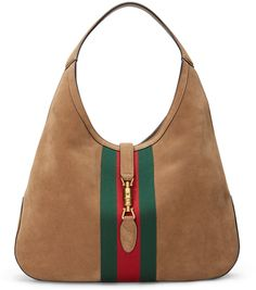 Gucci Jackie Soft Large Suede Hobo Bag, Taupe - $2,600.00