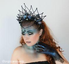 Dark Mermaid Crown, Shell Crown, Mermaid Headpiece,Mermaid Hair Accessory…