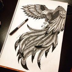 60 Best Phoenix Tattoo Designs – The Coolest Symbol for Tattoo - i like tattoos - Tatoo Ideen Kunst Tattoos, Body Art Tattoos, New Tattoos, Tattoo Drawings, Sleeve Tattoos, Cool Tattoos, Tatoos, Mandala Tattoo Design, Tattoo Designs