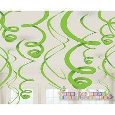Kiwi Lime Green Hanging Swirl Decorations (12ct) 16a90847c7c0