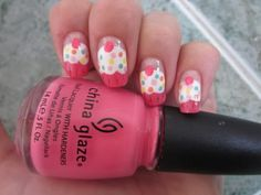 Cute cupcake nails ♥ would love to have nails long enough to do this one