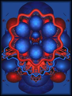 Fractals - Red Fractal - By Unknown