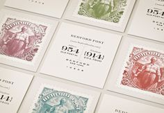 Located on the historic Post Road in serene Bedford, New York, this is a lovingly-restored cafe, restaurant, and inn. The postage stamp-logo is a portrait of the owner's grandfather.