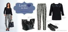19 May Look to Love, Monochrome Beautiful Outfits, Bath And Body, Monochrome, What To Wear, Footwear, Clothes For Women, My Style, Pants, Fashion