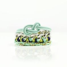 How to Style Melon and Mint Together.. Mint Stacked Bracelets