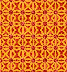 orange; would make a fantastic throw pillow or coasters to pop off the coffee tables