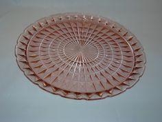 Windsor pattern chop plate by Jeannette Glass, circa 1936-46-$30.00