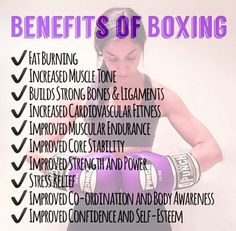 The top 10 benefits of Boxing! Fat Burning Increased Muscle Tone Builds strong bones & ligaments Increased cardiovascular fitness Improved muscular endurance Improved core stability Improved strength and power Stress Relief Impr Muay Thai, Michelle Lewin, Fitness Quotes, Fitness Tips, Weight Lifting, Title Boxing, Boxing Boxing, Kick Boxing Girl, Boxing Club