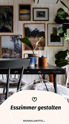 Die Gestaltung des Essbereichs beginnt mit der Grundausstattung des Raums und setzt sich mit der Auswahl der Esszimmermöbel fort. Mit geschickt platzierten Lichtquellen und einer passenden Dekoration schaffst Du ein behagliches Ambiente – hier bekommst Du hilfreiche Inspirationen. Inspiration, Plants, Poster, Homes, Essen, Dekoration, Biblical Inspiration, Plant, Billboard